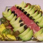 Ham met fruitgarnituur